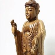 Hand Carved Standing Buddha Balinese Statue