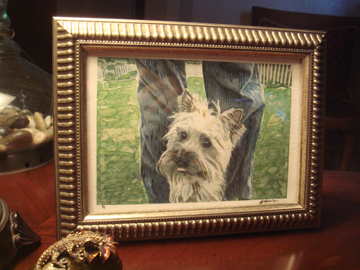 Abby ~ framed.