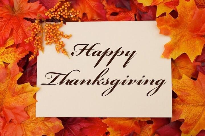 Happy Thanksgiving-Schild | © panthermedia.net / karenr