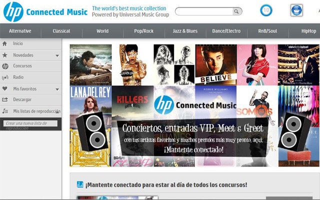 HP Connected Music es un servicio de música en streaming.