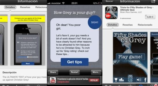 50 sombras de Grey app