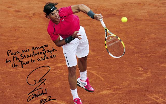 Puedes conseguir la firma de Rafa Nadal y fotos dedicadas en MyStarAutograph