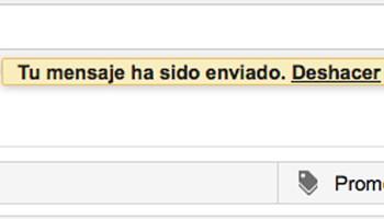 Gmail mensaje deshacer