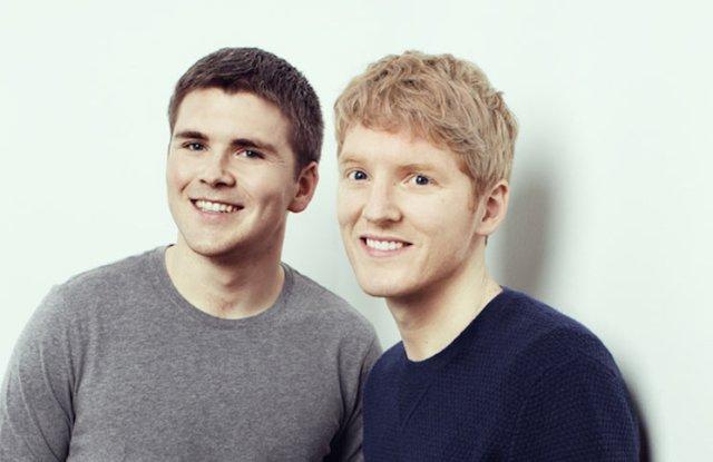 John y Patrick Collison, fundadores de Stripe