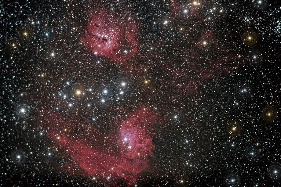 IC405 & IC410 (Flaming Star Nebula & The emission nebulae)