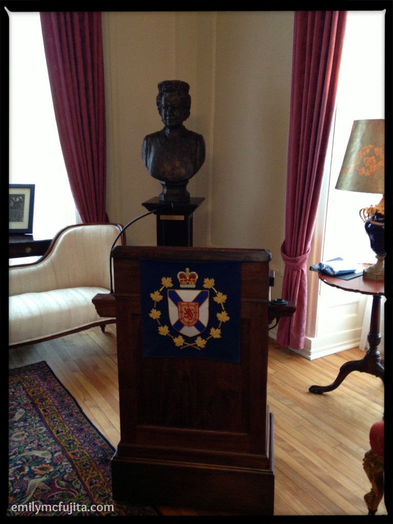 Bust of Queen Elizabeth at Government House, Halifax