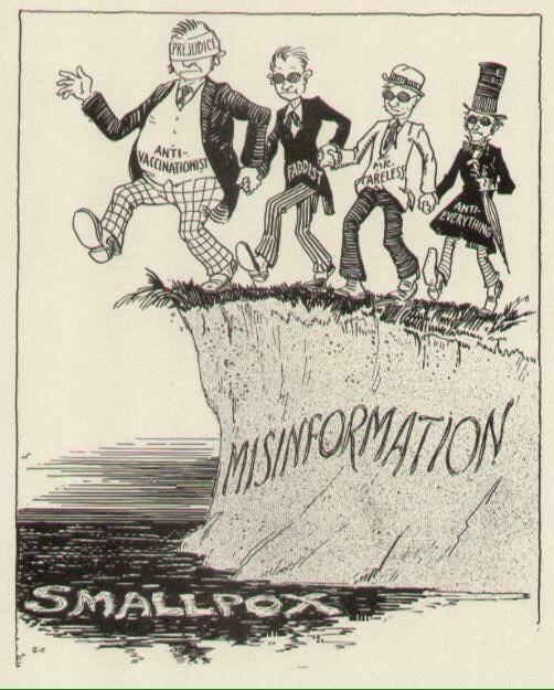 1920s anti-vaxxer cartoon
