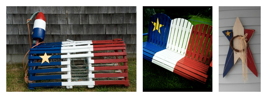 Acadian flag folk art in the Maritimes