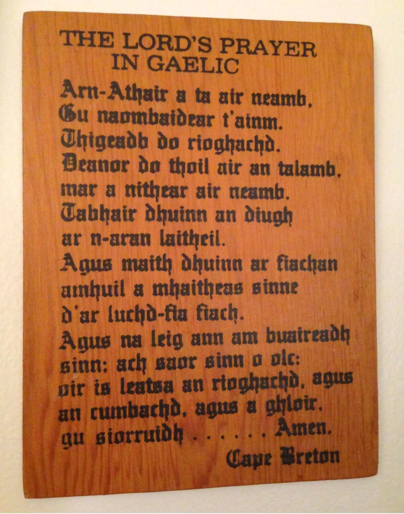 Ar N Athair The Lord S Prayer In Gaelic Gaelic