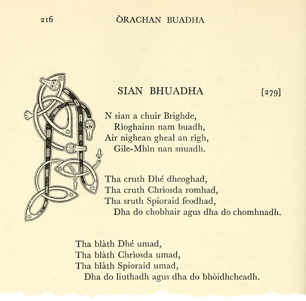 Excerpt from Sian Bhuadha Brìghde, Bridget's Charm of Grace