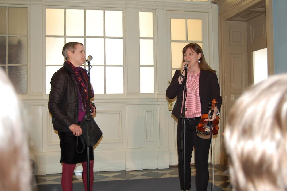 Gaelic singer Mary Jane Lamond and Gaelic fiddler Wendy MacIsaac