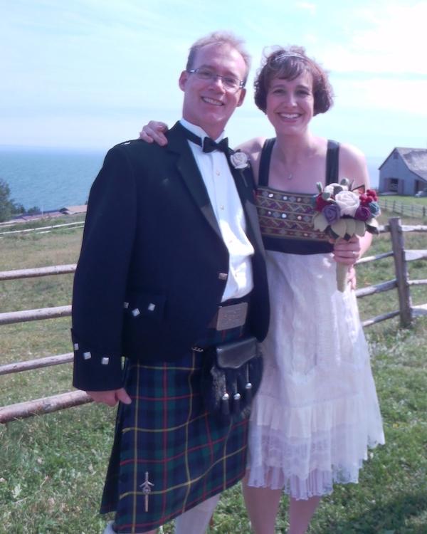 Fear-pòsda agus bean-phòsda - Groom and bride