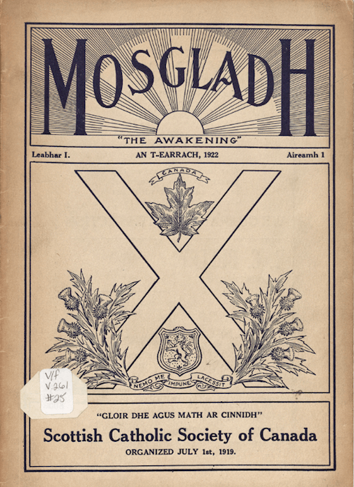 An issue of Am Mosgladh (The Awakening) available online in the Nova Scotia Archives