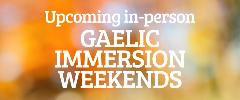 Gaelic weekend banner
