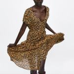 robe zara léopard