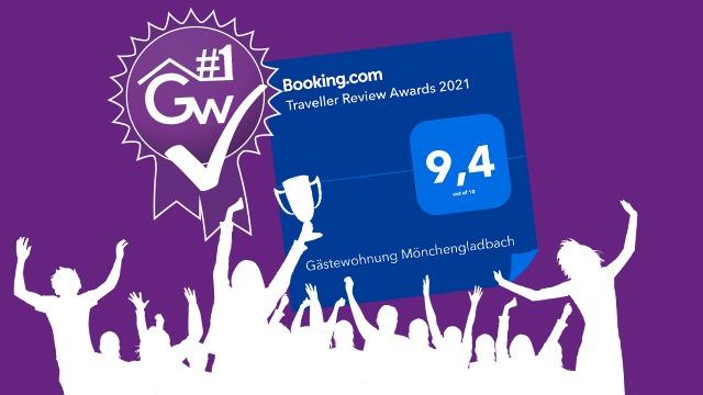 Gästewohnung Mönchengladbach-Booking.com-Award-9,4 von 10