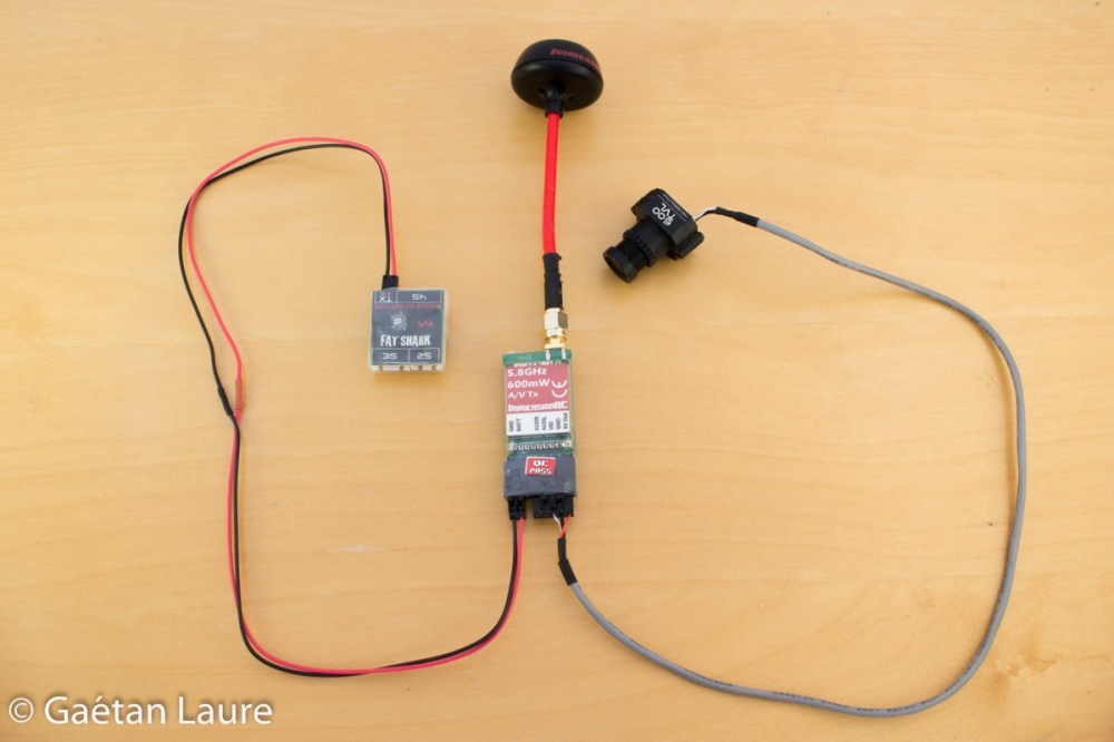 medium resolution of fpv components are wired this way the emitter is powered by the battery through the power filter a rc circuit the emitter features a converter to power