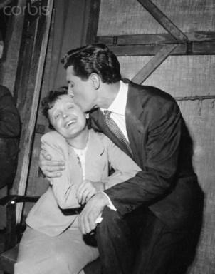 Singers Edith Piaf and Gilbert Becaud