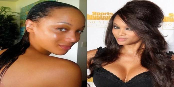 tyra banks no makeup