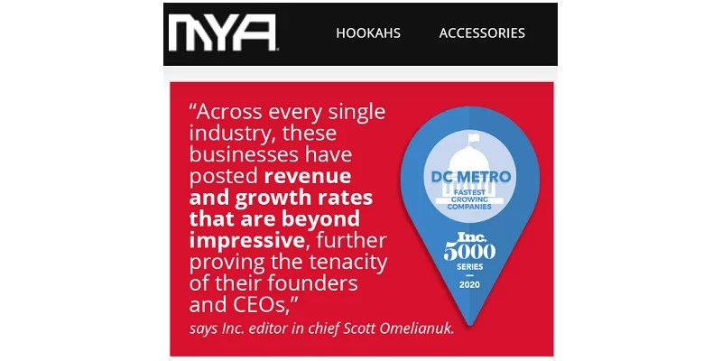 Read more about the article MYA Saray USA Lands on Inc. Magazine