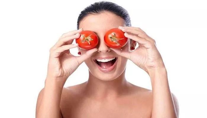 Tomatoes method for dark circles