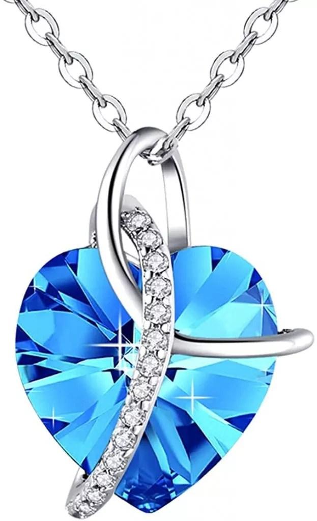 Blue Heart Necklaces
