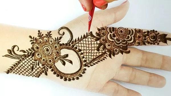 Front Hand Mehndi Designs