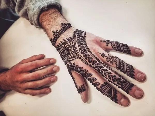 Boys Mehndi Design
