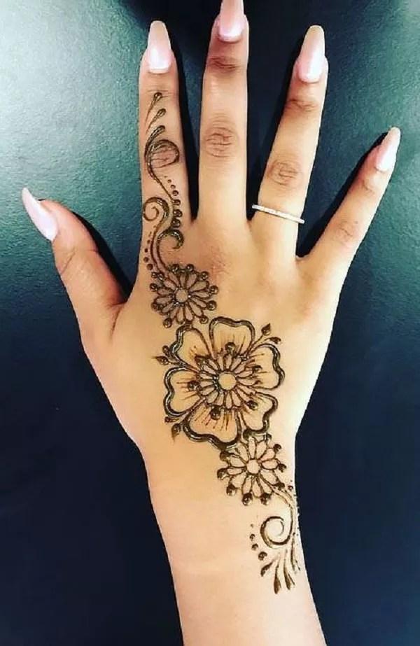 Right Hand Mehndi Design