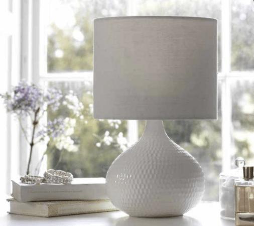 white table lamp argos