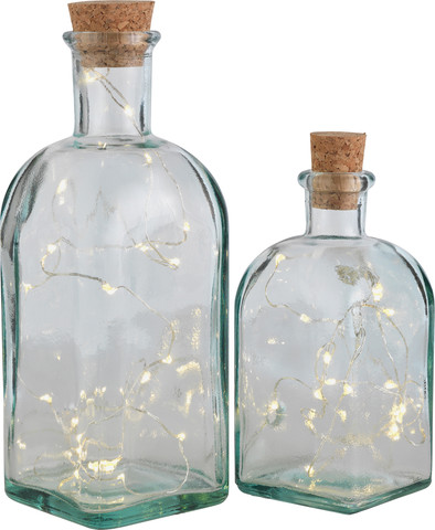 glass bottles with lights Argos