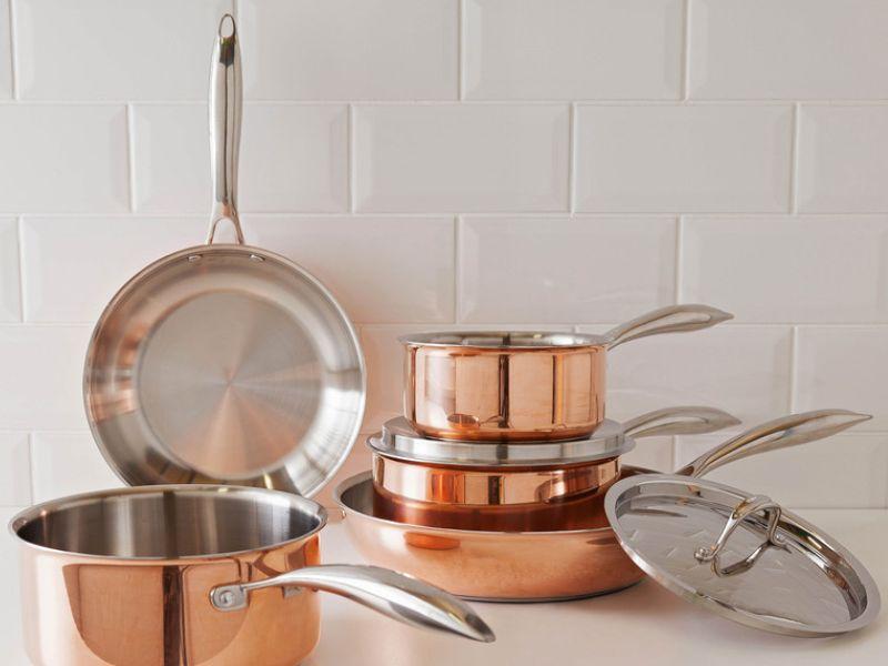 argos copper pot selection