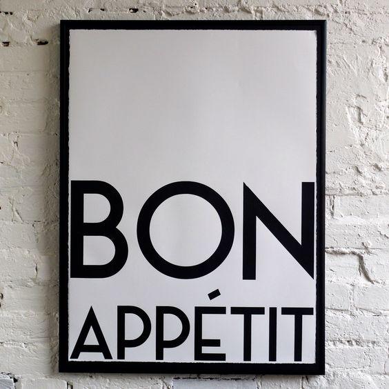 bon appetit wall print