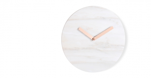 Cullen Wall Clock, Marble & Copper, £49 Made.com