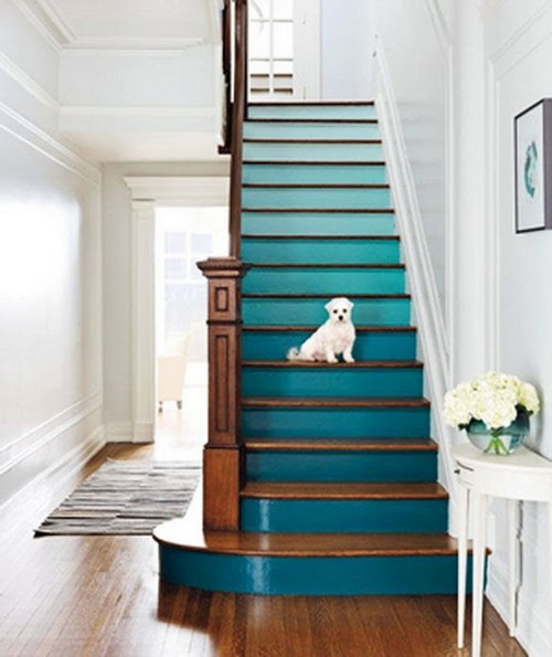 Ombre paint staircase