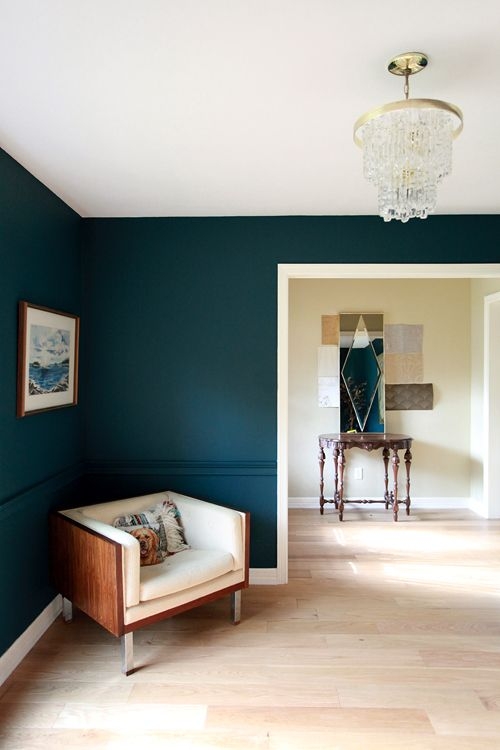 teal paint wall colour