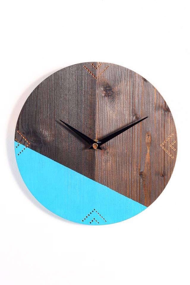 Aztec Geo clock, available at Etsy
