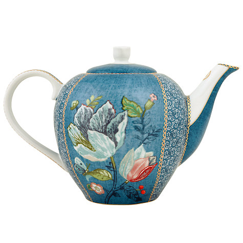 John Lewis blue teapot