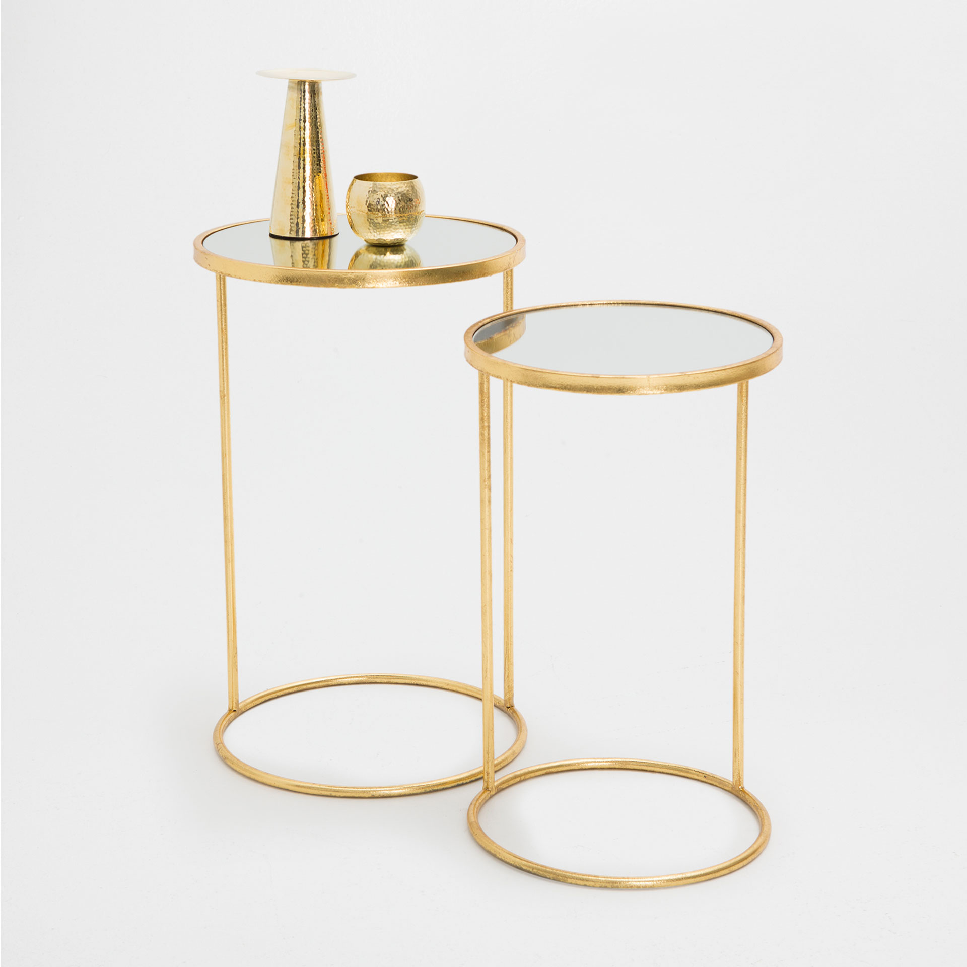 table zara home gold geometric simple coffee table