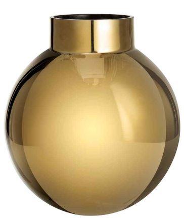 gold flower vase h&m