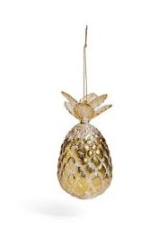 gold pineapple christmas bauble marks and spencer