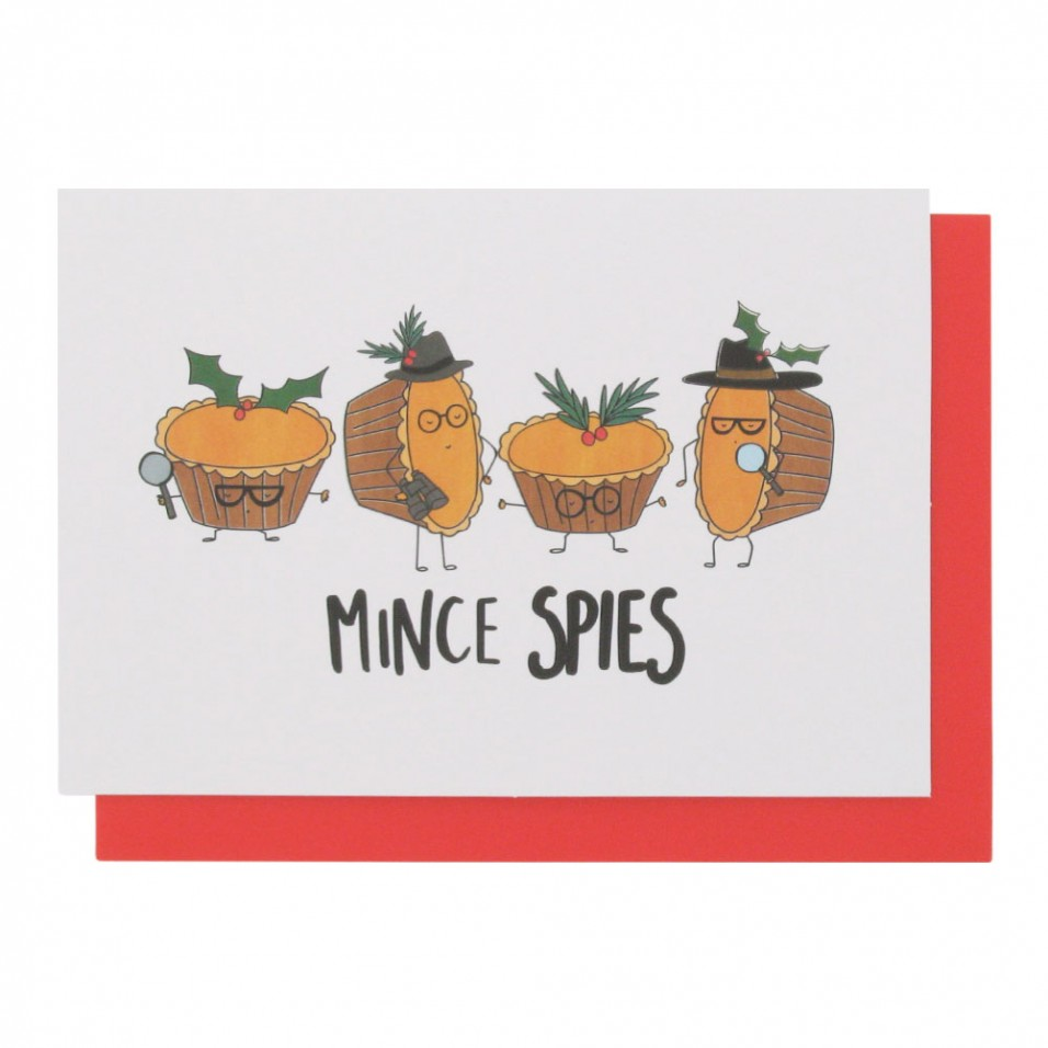 mince pies christmas cards