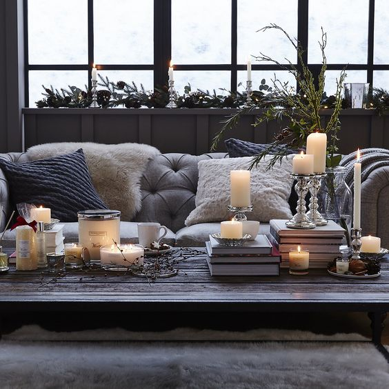 pinterest hygge candles cushions throws