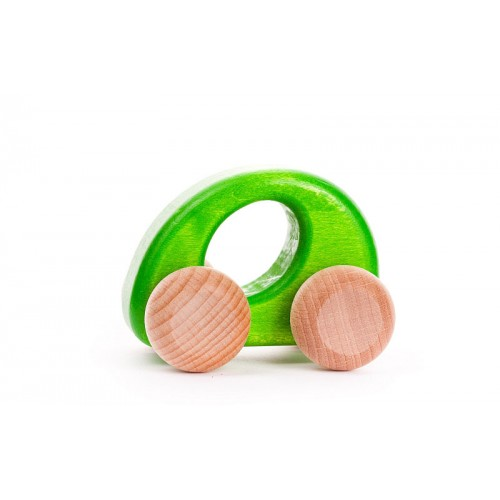 children's wooden car mopsy and lils green