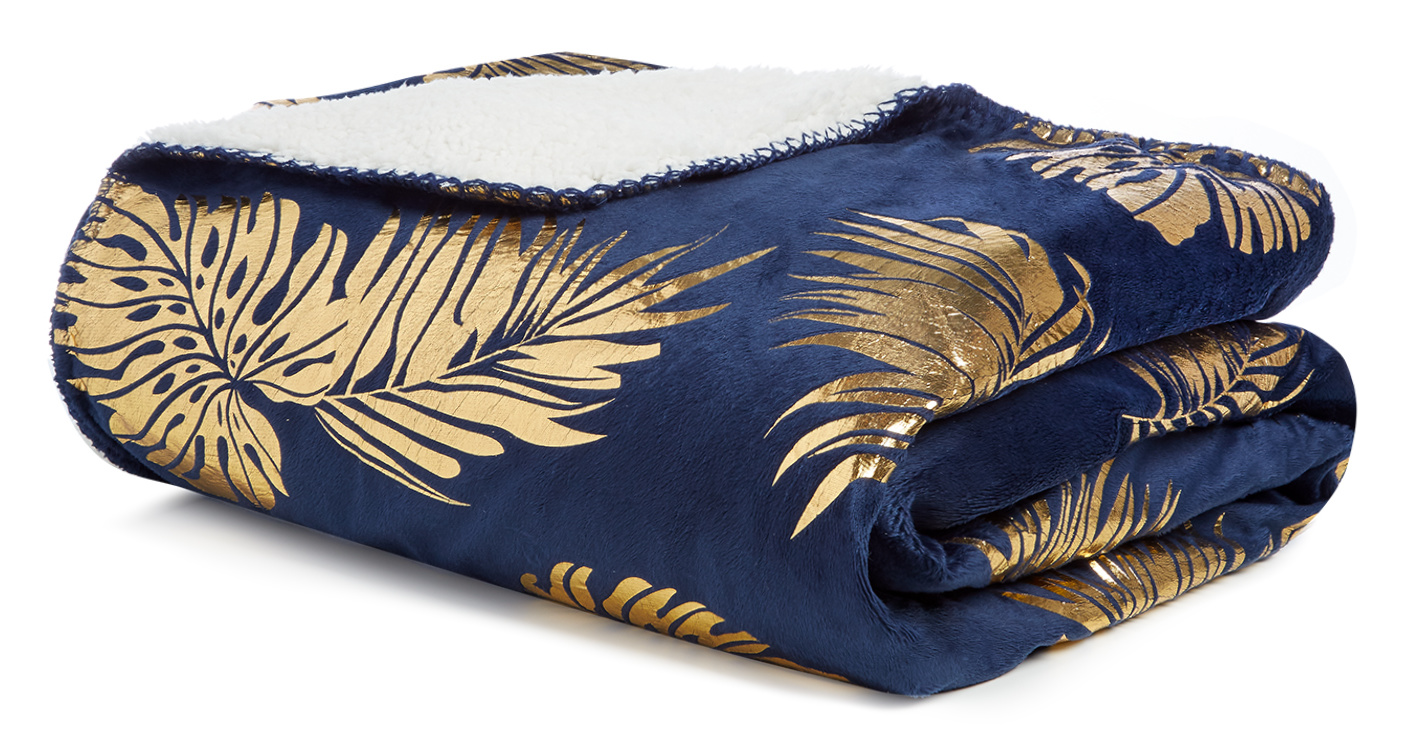 penneys sherpa throw blanket hawaiian noir