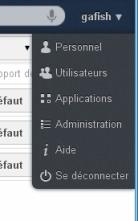 ownCloud menu