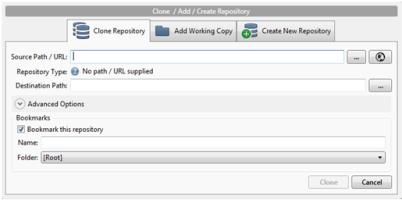 Clone depot Git avec SourceTree