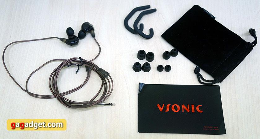 Обзор внутриканальных динамических наушников Vsonic VSD3 и VSD3S | gagadget.com