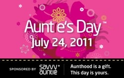 Auntie's Day Is July 24, 2011