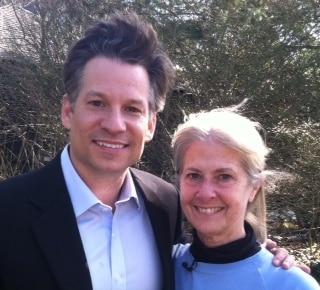 NBC reporter Richard Engel and Cindy Barrett